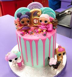 Novelty Birthday Cakes - A resource for awesome homemade cakes & sweets Doll Birthday Cake, Funny Birthday Cakes, Homemade Birthday Cakes, Number Birthday Cakes, Halloween Birthday Cakes, 7th Birthday, Birthday Ideas, Drip Cakes, Lol Doll Cake