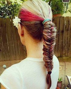 #braids #fishtailbraid #peekaboos #blondehair #flower #love #hairbyjopresly