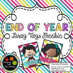 of Year (Reward Tag Freebie) End of Year (Brag Tags Freebie) by Hanging with Mrs Hulsey 1st Day Of School, Beginning Of School, Teachers Pay Teachers Free, Reading Buddies, Behavior Incentives, Brag Tags, End Of Year Activities, Happy Reading, Classroom Management