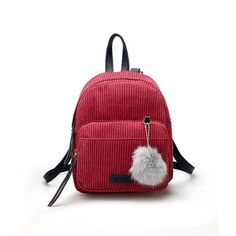 Fashion Winter Women's Mini Corduroy Backpacks - Gray/Grey,Khaki,Pink,Red  Womens Style 2017 cute trend essentials gift ideas awesome  beautiful Fur For teens outfit  Gift Ideas Outlets Shop Products Store link website awesome internet Online Shopping AuhaShop.com