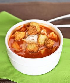 Creamy Tomato Tortellini Soup - 11/1 - Made this and it was delicious and easy. The kids loved it.