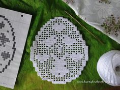 Filet Crochet, Easter Crochet, Helly Hansen, Table Runners, Free Pattern, Projects To Try, Crochet Patterns, Bunny, Christmas Tree