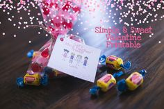 Simple & Sweet, Free Valentine's Day Printable! © Audrey Roundy Photography