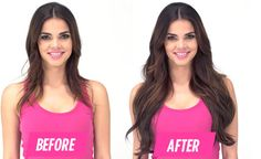 before after cashmere hair luxury clip in hair