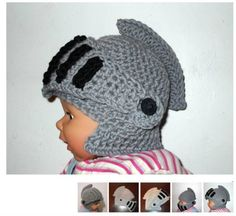 Knight Helmet CROCHET PATTERN - Moveable Visor - Face Mask