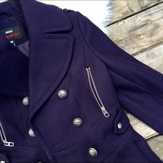 Miss sixty military style coat Super chic military style coat in gorgeous deep purple color by miss sixty. Heavy coat perfect for those harsh winters. Brand new with tags! Miss Sixty Jackets & Coats Utility Jackets