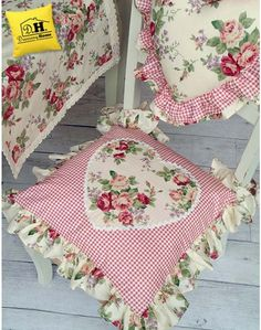 Cuscino per sedia Angelica Home & Country Collezione Rose Vittoriane