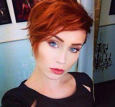 Heb jij wel eens rood haar gehad? Heel veel leuke rode korte kapsels! - Kapsels voor haar
