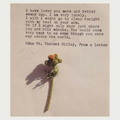 Quote from Edna St. Vincent Millay