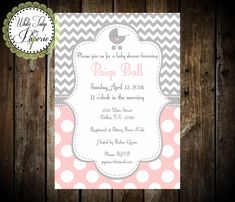 Hey, I found this really awesome Etsy listing at https://www.etsy.com/listing/192072517/pink-and-gray-baby-shower-invitation