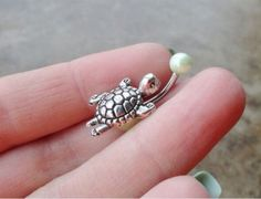 Turtle belly button ring