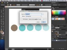 Importing Swatches in Adobe Illustrator CS6