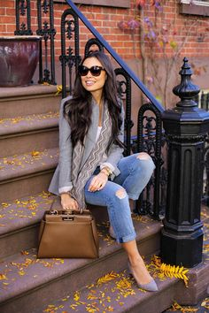 Fall Tones - Club Monaco blazer // Missoni scarf T by Alexander Wang shirt // Current Elliott jeans Jean Michel Cazabat heels // Fendi bag Monday, November 16, 2015