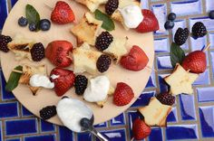 Fourth of July Party Ideas: Grilled Strawberry Shortcake Recipe >> http://www.hgtvgardens.com/holidays/fourth-of-july-backyard-party-ideas?soc=pinterest&s=7