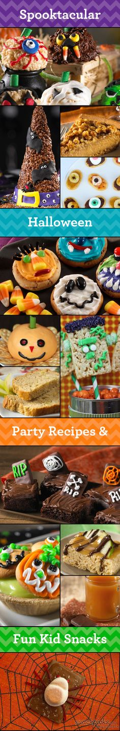 Might try to make some of these for the kids parties at school :-) Halloween Recipes, Ideas and Fun!