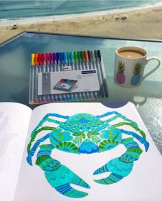 """Finished colouring my crab."""