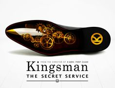 """Art by Kamil Masood, from Karachi, Pakistan. """"A beautifully executed design that showcases the style of the Kingsman agents and the secret nature of the organization and conveys the unique humor of the movie."""" - Matthew Vaughn"""