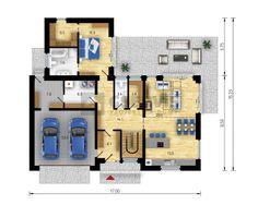 Projekt rodinného domu Zaragoza - půdorys přízemí