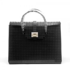 This black AGABAG tote is a chic choice for everyday use. It is handcrafted with LEGO bricks. Its interior is generously proportioned to fit all of your daily essentials, including an iPad and work documents. Christmas Gifts 2016, Bags 2015, Pouch, Wallet, Lego Brick, Street Chic, Hermes Birkin, Jewelry Making, Designer Bags