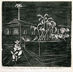 Oswaldo Goeldi  [BURRICO] sem título, circa 1924, sem assinatura xilogravura 17 x 16 cm primeira tiragem póstuma de Oswaldo Goeldi por Beatrix Reynal, 1971 Coleção Raul Schmidt Felippe Jr