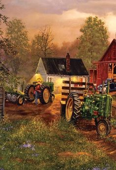 John Deere Painting ~ David Barnhouse