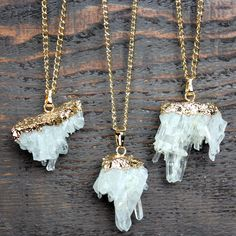 druzy opulent gem crystal boho bohemian gypsy crystal clear quartz jewelry necklace necklaces accessories accessory