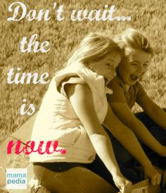 What are you waiting for? The time to jump is now. @Hands Free Mama