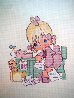 Precious Moments Occupations Vintage Cross Stitch by NeedANeedle