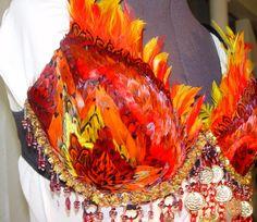 Gorgeous phoenix bird of fire belly dance costume.