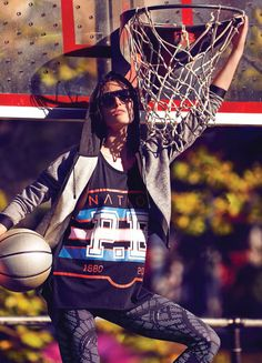 We love Hilary Rhoda in this colourful editorial for Cosmopolitan magazine. Photographed by Max Abadian and styled by Aya Kanal, the mix of athletics with fashion is inspiring us today.