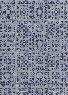 Serego Wallpaper de Designers Guild. Reminds me of Mediterranean tiling. Gorgeous! #Designersguild #dreambedroom
