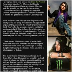 What Monster Energy says about Snow, read the full thing here:  www.monsterenergy.com/us/en/athletes/snow-tha-product/#prettyPhoto