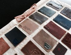 Leather label & Badge. Denim detail