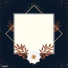 premium psd of Square paper craft flower frame template Framed Wallpaper, Flower Background Wallpaper, Light Blue Background, Flower Backgrounds, Background Patterns, Powerpoint Background Design, Tsumtsum, Instagram Frame, Instagram Logo