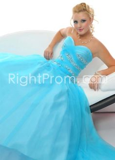 Ball+Gown+A-Line+Sweetheart+Floor-Length+Beading+Prom+Dresses