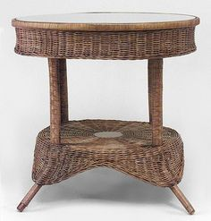 Wicker Victorian table center table natural