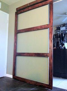 DIY CLOSET SLIDING DOOR! MUST DO THIS!