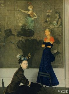 Schiaparelli and Toulouse-Lautrec, photographed by Horst P. Horst, for Vogue