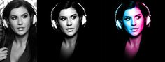 Amnesia Ibiza Resident DJ Becky Saif - Post Production of Client Supplied Photo (Before/After/After)