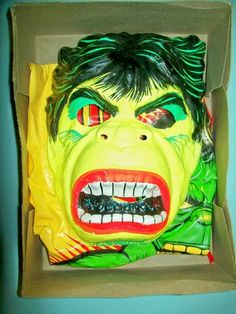 Vintage 1977 Incredible Hulk Halloween Costume by Ben Cooper in Original Box | eBay