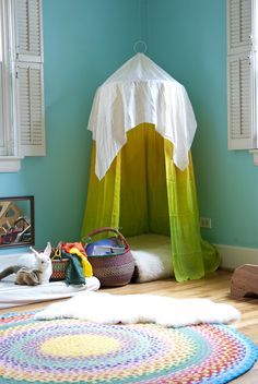 Need a cozy reading nook? Here are a few that don't needs lots on construction or money to create.
