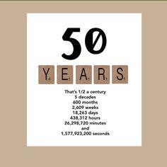 50th Birthday Card Milestone Birthday Card by DaizyBlueDesigns …