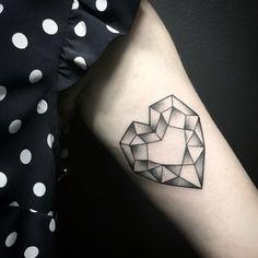 Geometric heart tattoo. Miss Sita  Geometry tattoo dot work