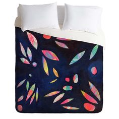 Stephanie Corfee Rainbow Leaves Duvet Cover | DENY Designs Home Accessories