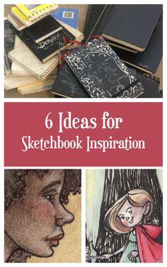 '6 Ideas for Sketchbook Inspiration...!' (via Manelle Oliphant Illustration)