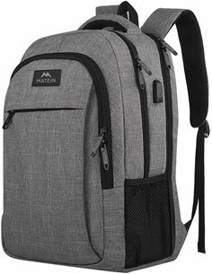 Travel Laptop Backpack, Business Anti Theft Slim Durable Laptops Backpack with USB Charging Port, Water Resistant College School Computer Bag Gifts for Women & Men Fits Inch Notebook, Grey: Clothing Best Laptop Backpack, Laptop Rucksack, Computer Backpack, Computer Bags, Travel Backpack, Laptop Bags, Luggage Backpack, Small Backpack, Black Backpack