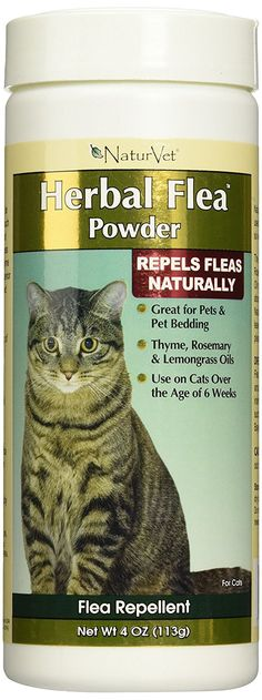 NaturVet Herbal Flea Pet Powder for Cats, 4 Ounce * You can find more details by visiting the image link.
