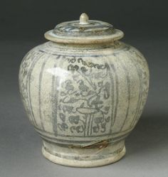https://flic.kr/p/qH4mUi | Covered Jar LACMA M.84.213.155a-b |  Wikimedia Commons image page Description  Title Covered Jar  Description  : Thailand, Sawankhalok, 16th century : Furnishings; Serviceware : Stoneware with underglaze brown painted decoration : Gift of Ambassador and Mrs. Edward E. Masters (M.84.213.155a-b) : [http: //www.lacma.org/art/collection/south-and-southeast-asian-art South and Southeast Asian Art]  Accession number M.84.213.155a-b  Date {{other date|century|16}}…