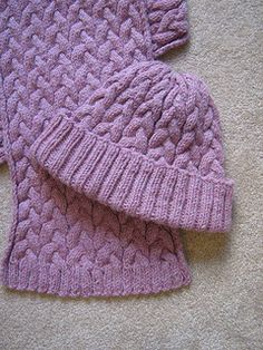 Cozy Braided Cable Hat & Scarf by Cornflower Knits - free