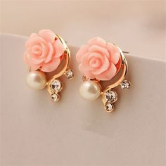Preorder  Pink Rose Crystal Pearl Double by TimelessBeautyStore